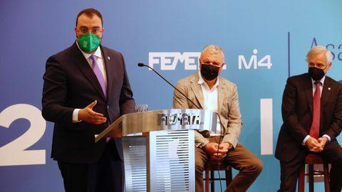 Barbón, durante la asamblea de Femetal. / Armando Álvarez