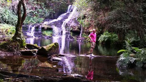 Cascada del Pozo Lexoso o Pozo Mouro en Ribadeo