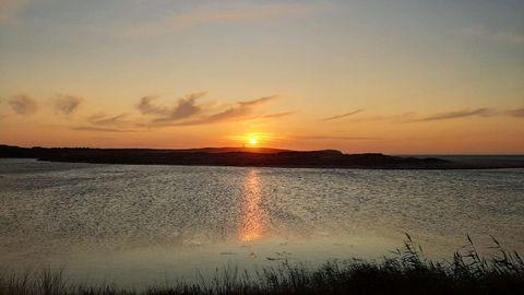 Laguna de A Frouxeira, en Valdoviño