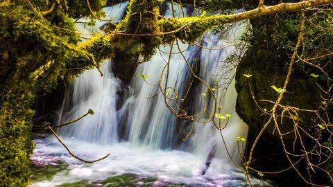 Cascada en la ruta de As Reigadas en A Pontenova