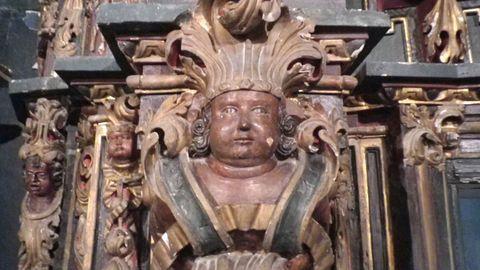 Detalle del retablo de Santa Catalina de Montefaro