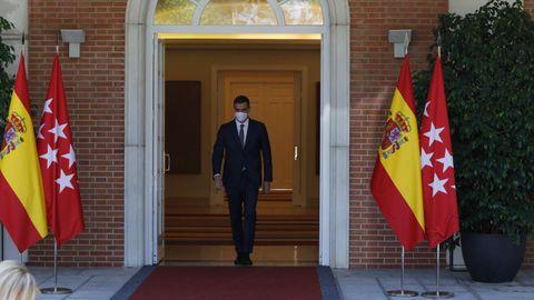 El presidente del Gobierno, Pedro Sánchez, el pasado viernes en el Palacio de la Moncloa.