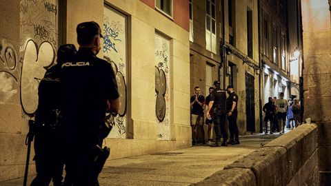 La Policía patrulló varias calles del casco histórico