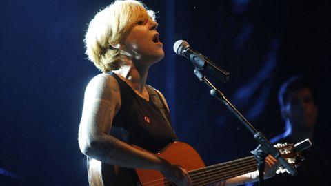 La cantante Sés, en una actuación en el Festival do Castro, en el año 2017
