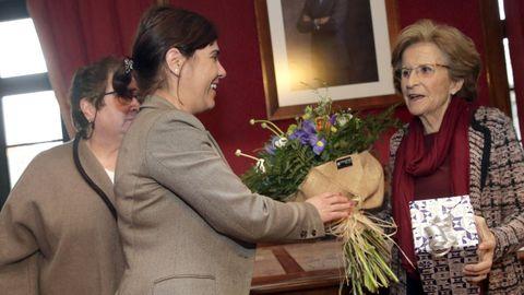 Teresa Cuíña recibió el homenaje del Concello de Vilagacía en el 8M del 2019