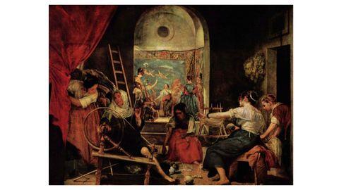 «Las hilanderas», lienzo de Velázquez, antes de los trabajos de restauración.