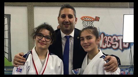 Naira, el presidente David y Lucía, en una imagen de archivo