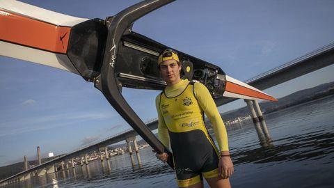 Caetano Horta. A los 18 años disputará sus primeros Juegos Olímpicos en el doble scull ligero.