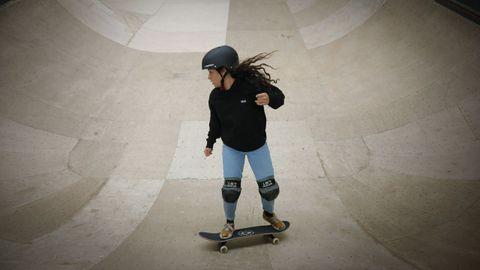 Julia Benedetti. Con 16 años se clasificó para los Juegos en skate en la modalidad de park.