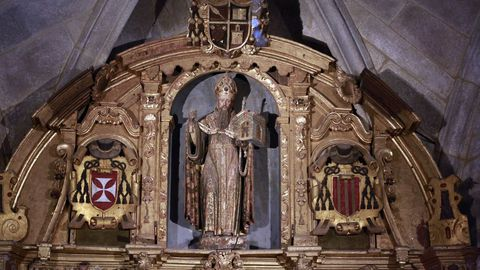 La joya  de la iglesia, una escultura de San Agustín