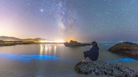 Agosto del 2020. Mar de ardora en la playa de Carnota
