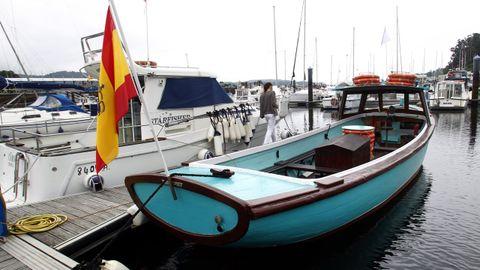 El Catro Vellos Mariñeiros, en imagen de archivo, es un bote de madera construido en 1959