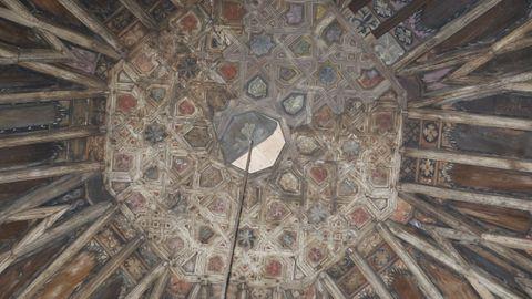 El artesonado de aire mudéjar de la iglesia de San pedro
