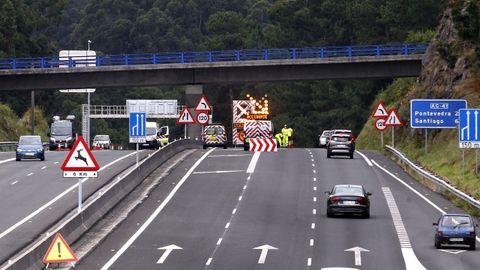 El accidente alteró la circulación en la Autovía do Salnés durante tres horas
