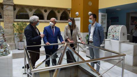 José Tomé visitó el balneario de Lugo que junto al de Pambre y al de Pantón participan en la iniciativa provincial