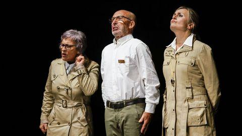 Imagen de la sesión preMIT, en la que Teatro do Vilar representó «Policía»