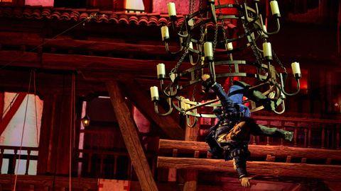 Escena del espectáculo A pluma y espada