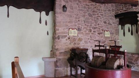 Interior del museo do Chocolate en Puxedo, Parada de Sil
