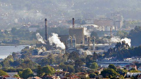 La fábrica de pasta de papel de Ence está ubicada en Lourizán, en Pontevedra