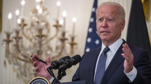 Joe Biden, presidente de EE.UU. participando en una conferencia