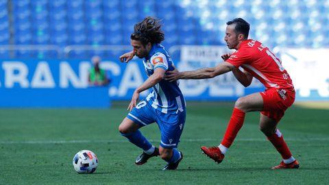 El Deportivo, en su partido de la última temporada contra el Zamora, uno de sus rivales en el próximo curso