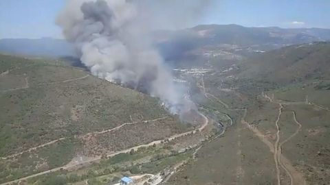 Incendio en Carballeda de Valdeorras este mes de julio