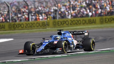 Fernando Alonso durante el Gran Premio de Gran Bretaña