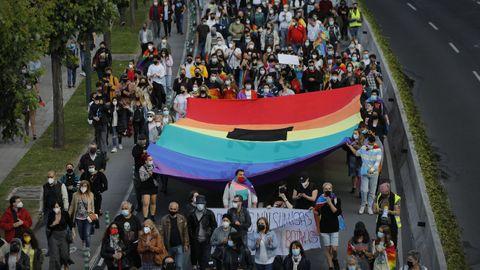 Imagen de la última manifestación de repulsa contra el crimen de Samuel celebrada en A Coruña el 11 de julio.