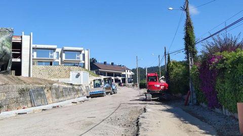 Obras del futuro vial de Areas a O Sear, en Sanxenxo