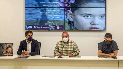 Gabriel Alén, César Fernández y Pablo Sanmamed durante la presentación del evento