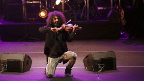 El violinista Ara Malikian durante un concierto en A Coruña