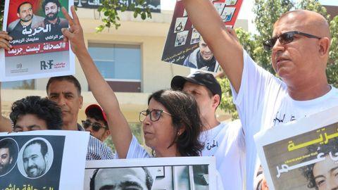 Concentración a favor de los periodistas condenados