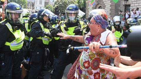 Protestas contra las restricciones en el denominado Día de la Libertad en Londres
