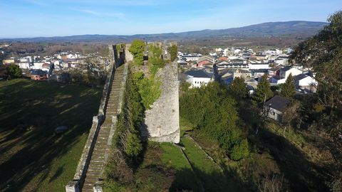 Vista aérea de la fortaleza de Sarria