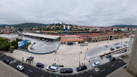 Vista panorámica de las estaciones de Ourense