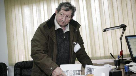 Imagen antigua de Xosé Díaz Fuentes en Lugo