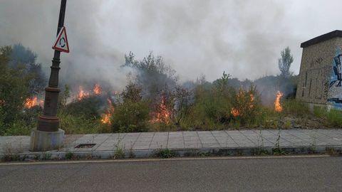 Incendio en La Manjoya, Oviedo