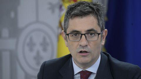 Félix Bolaños, ministro de la Presidencia, Relaciones con las Cortes y Memoria Democrática del Gobierno de España desde julio de 2021