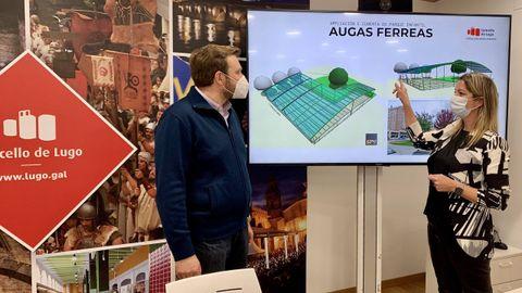 El proyecto de mejora del parque de Augas Férreas fue presentado en su día por Álvaro Santos y Lara Méndez