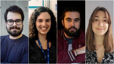 Las mejores notas de selectividad de Galicia, más de una década después: Guillermo Lorenzo, Paula Suanzes, Alejandro Vilar y Lucía Rodríguez