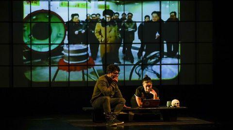Redrum estrenó ayer «#2Pilgrims» en la Casa da Cultura