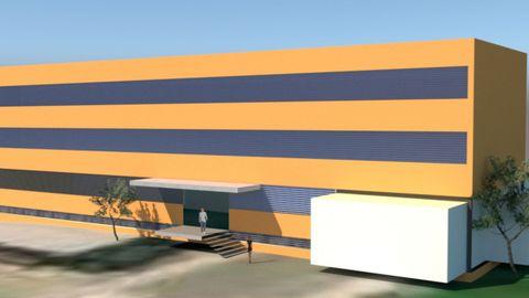 Recreación digital del futuro centro de salud de Ribadavia