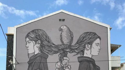 Mural del Loro Facu, creado por Lidia Cao
