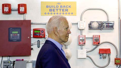 El presidente de Estados Unidos, Joe Biden, este miércoles, en una escuela de formación profesional en Cincinnati