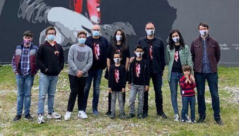 Familias gallegas con niños afectados por el Síndrome de Dent que forman parte de la asociación autonómica