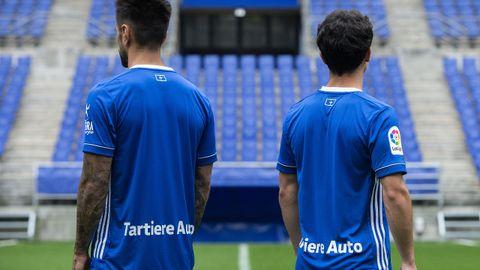 Parte trasera de la nueva camiseta del Real Oviedo