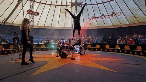 El Circo Nevada durante una actuación en Monforte de Lemos