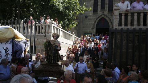 Imagen de archivo de la procesión de Santiago Apóstol en A Ponte