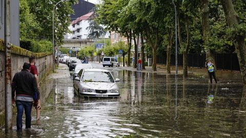 Calles inundadas el pasado 13 de junio