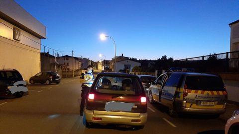 Control realizado por la Policía Local de Mugardos el pasado fin de semana
